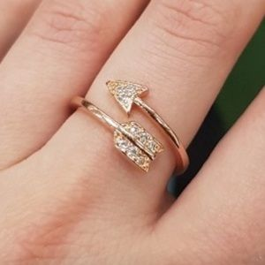 FREE PEOPLE Rose Gold Adjustable Arrow Ring